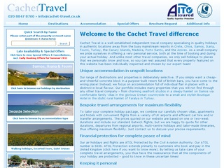 CACHET TRAVEL, Specialist Tour Operator