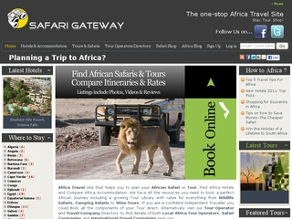 Safari Gateway &#8211; The Africa Travel Site