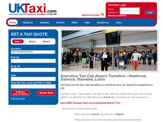 Executive taxi cab airport transfers to & any UK airport