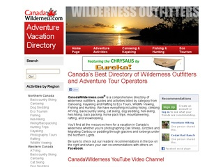 CanadaWilderness.com – Adventure Vacation Directory