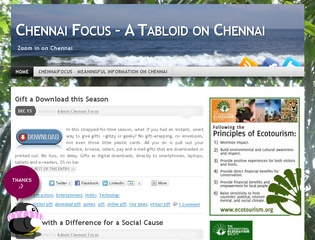 Chennai Focus – A Tabloid on Chennai
