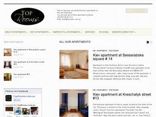 Top Rooms – Best  apartments in Kiev and Simferopol