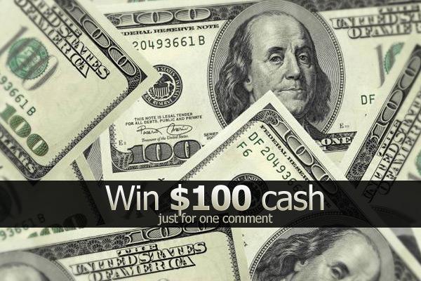 Comment contest Win $100