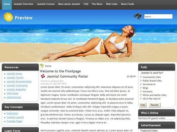 free holiday joomla template